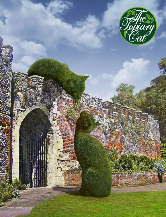 topiary cats meeting